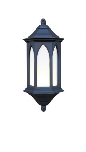 York 1-light Low Energy Outdoor Wall Light Black Stone finish, Small YOR22/LE (081639)